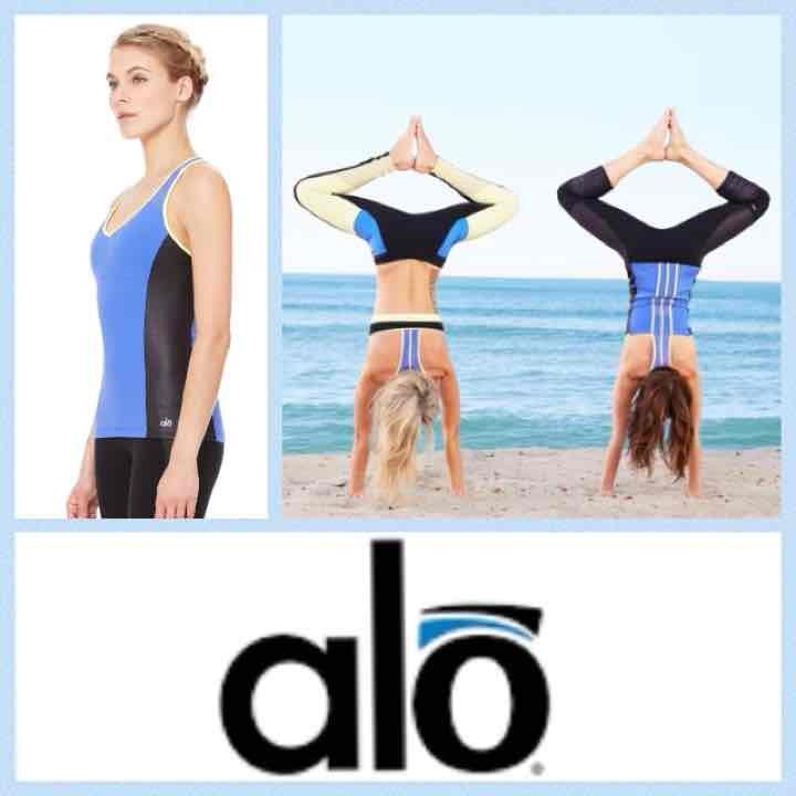 NEW! ALO Yoga 'chromatic long-bra' tank
