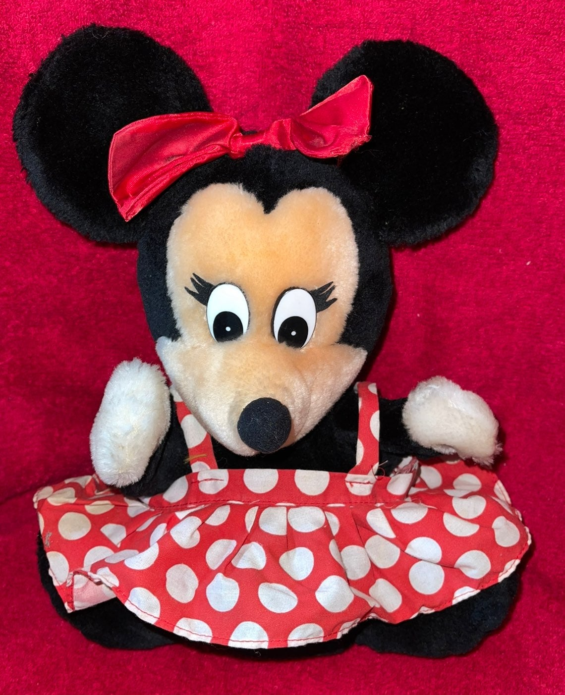 Plush Vintage Minnie Mouse Puppet 9""