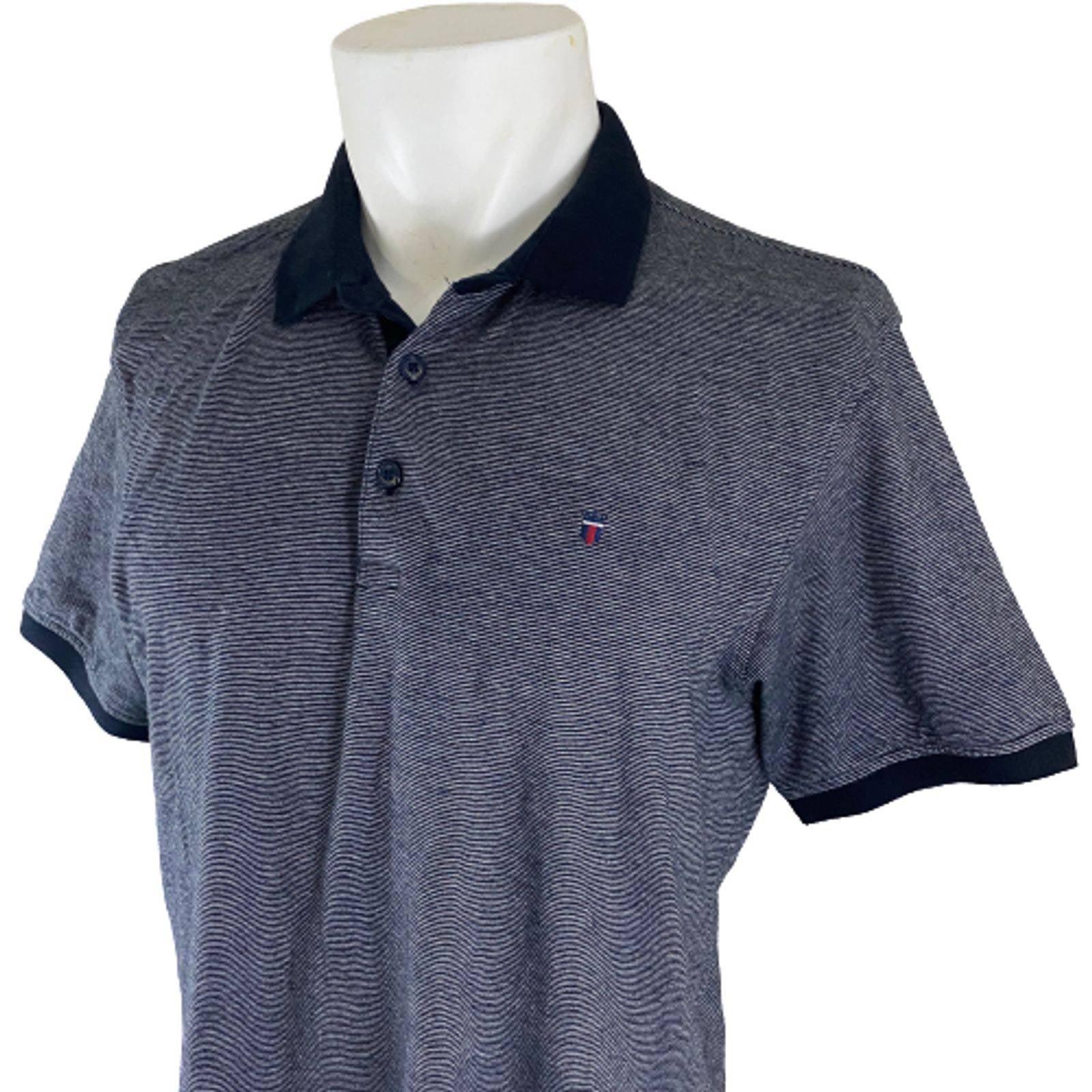 Louis Philippe Mens Stripe Polo Shirt