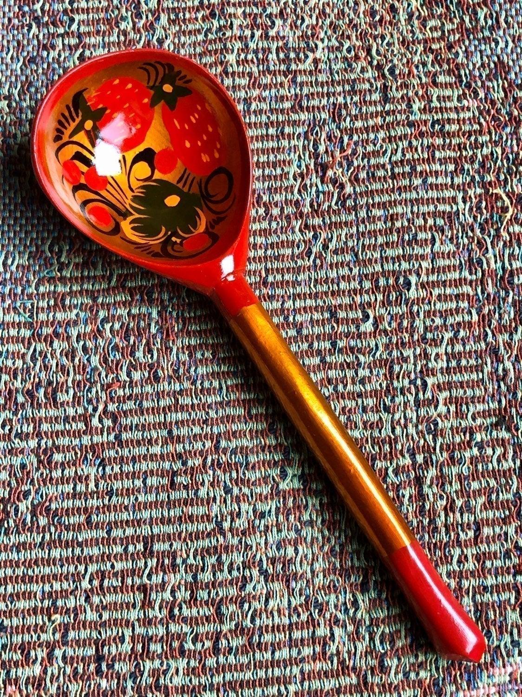 Belarus Handpainted Serving Spoon