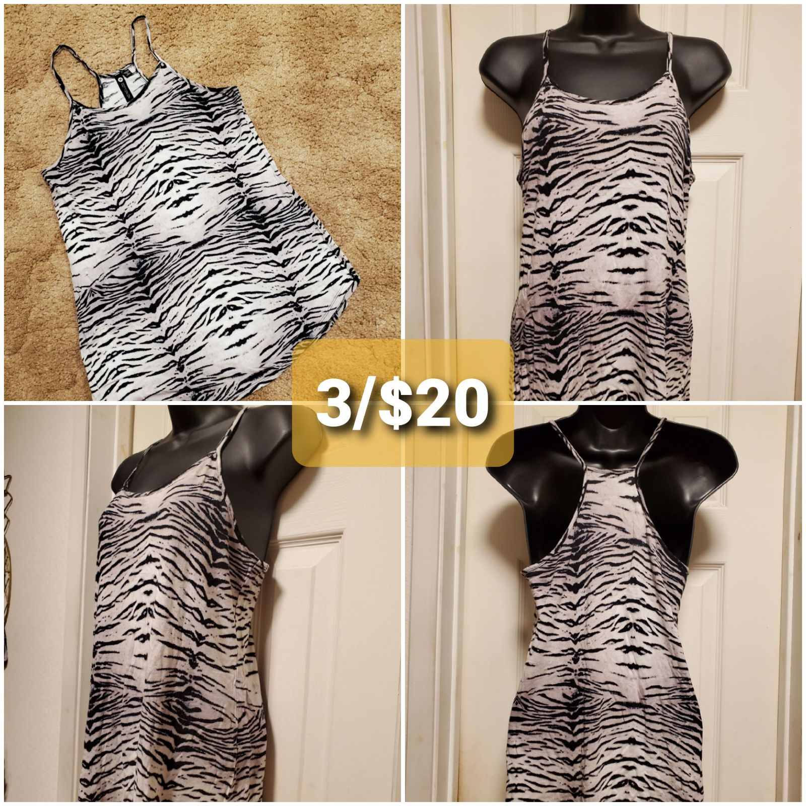 Cotton On Zebra Tank/MED