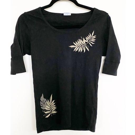 Crazy Shirts Knit Shirt w/ Leaf Design