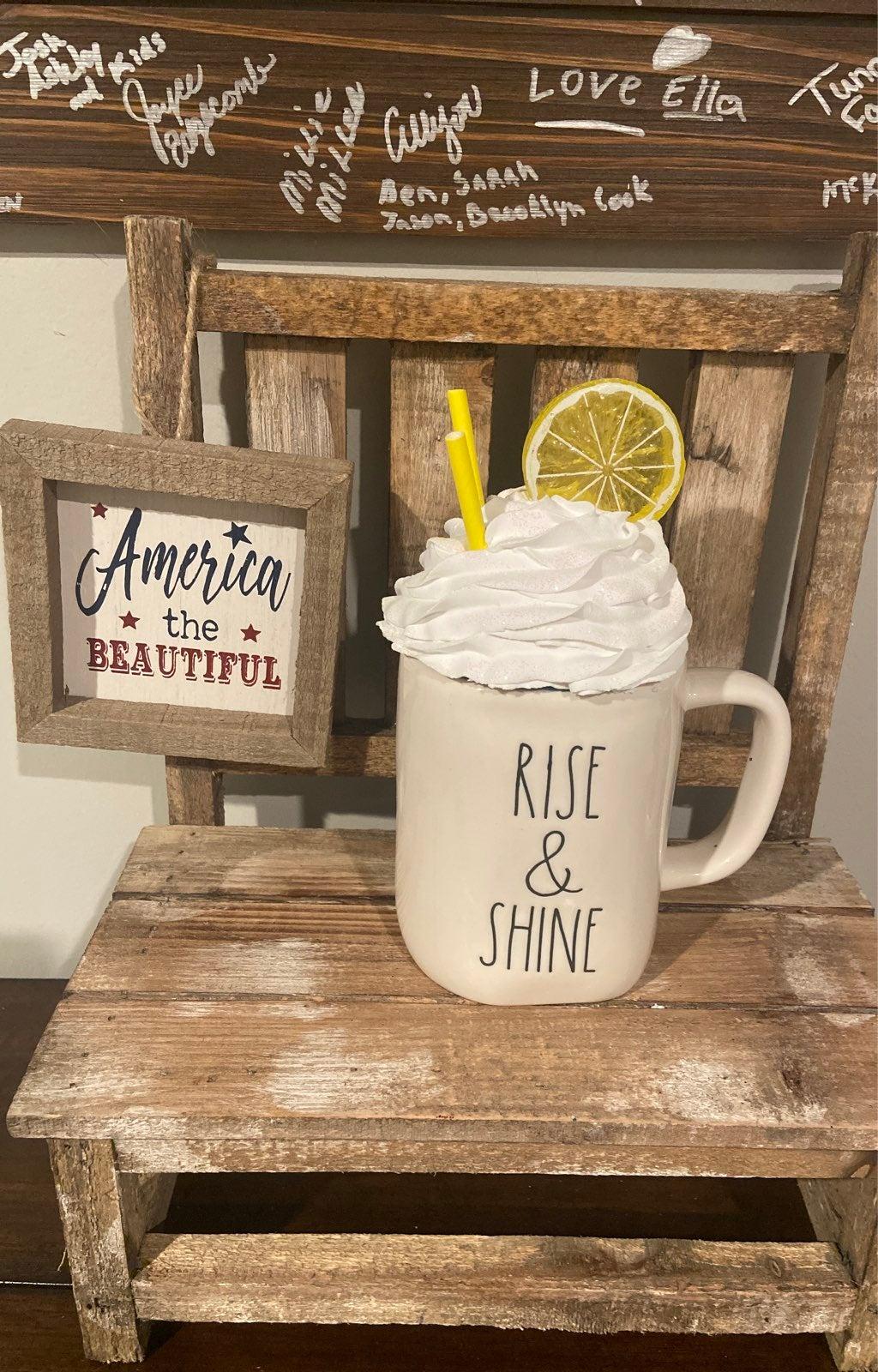 Lemon Wedge faux whip cream mug topper