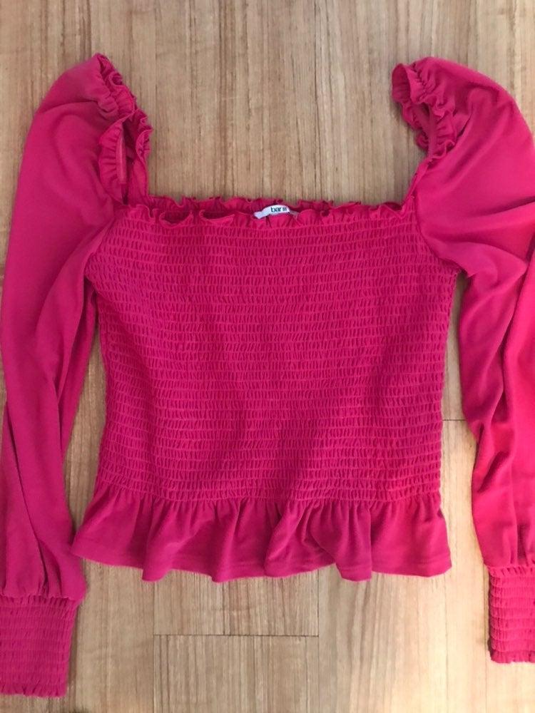 Bar ||| hot pink blouse