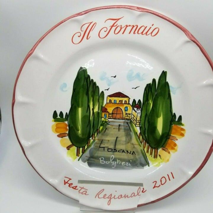 "Il Fornaio Festa Regionale Toscana 2011 10"" Dinner Plate Cerasella Italy"