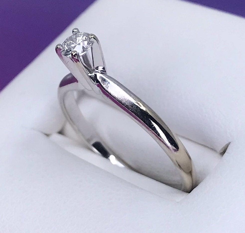 14k Natural DIAMOND Engagement Ring