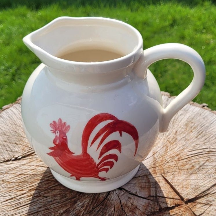 Red Rooster Farmhouse Pitcher