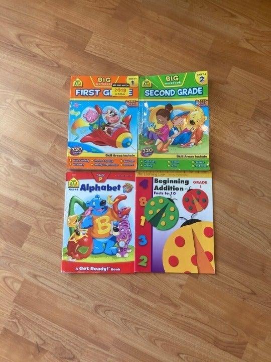 Lot of 4 Workbooks - Preschool, 1st, 2nd