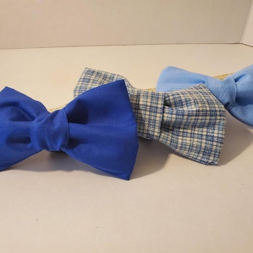 Blue, Dog Bow Ties, 3 pack
