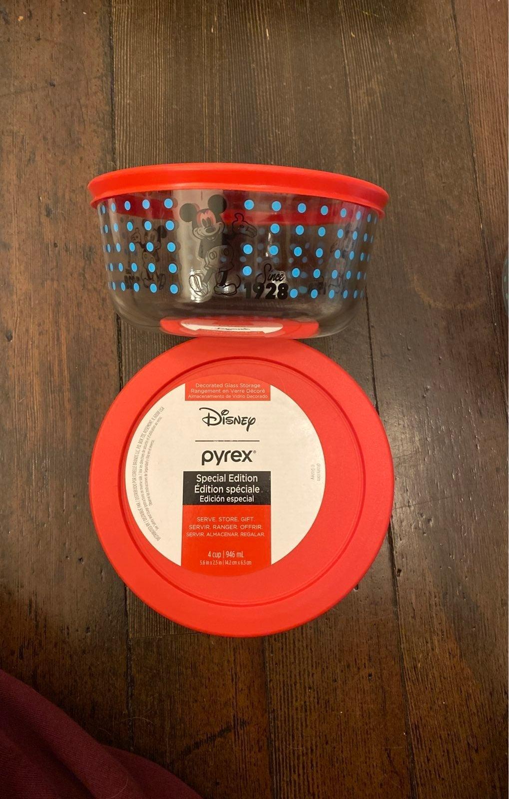 Mickey Mouse Disney Pyrex Glass Bowl two