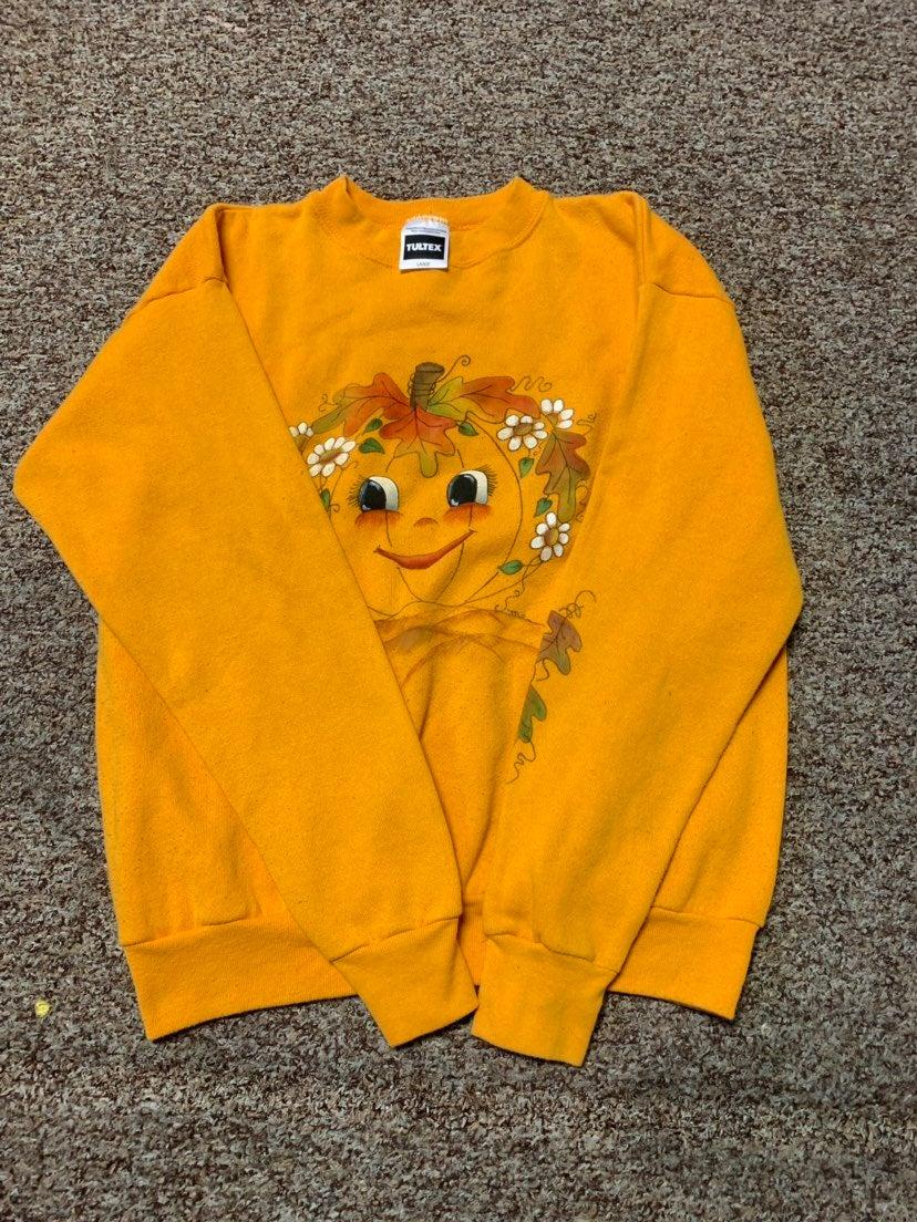 Vintage 90s tultex yellow sweatshirt sum