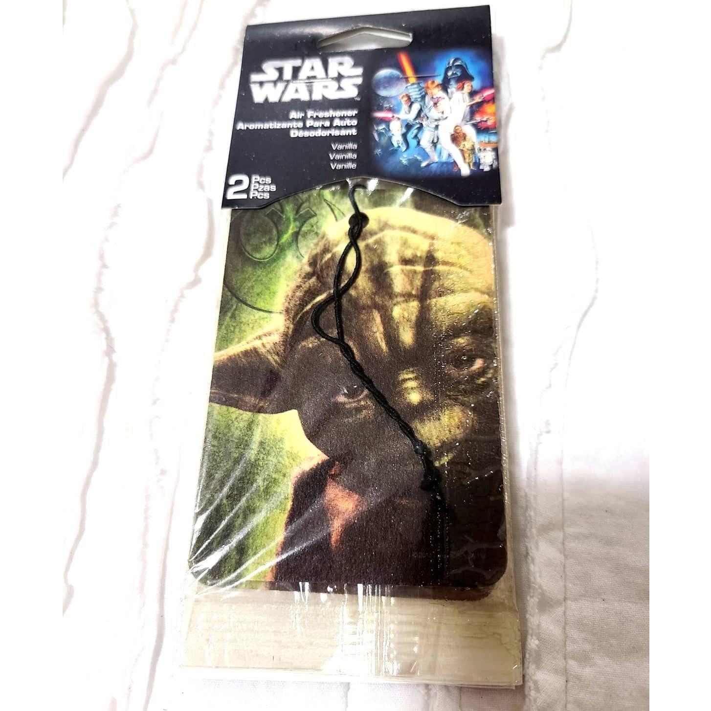 2 NWT Star Wars Air Fresheners Auto Yodi