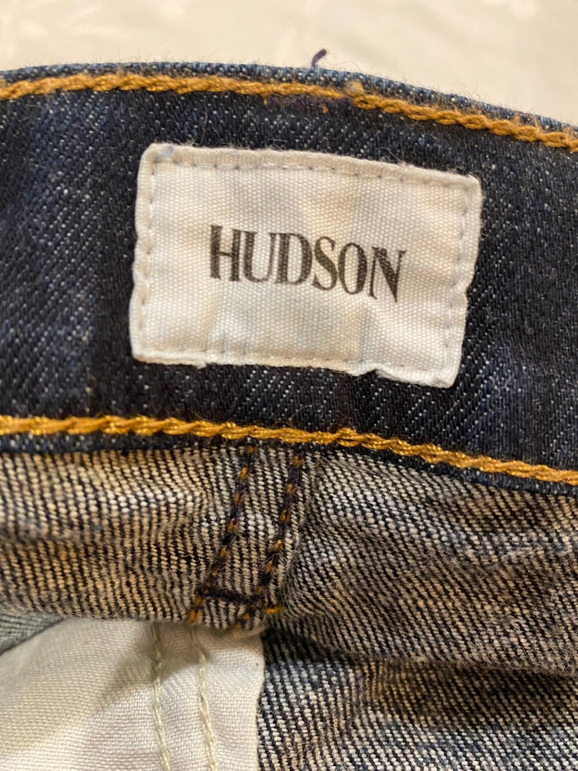 Hudson straight leg button fly mens