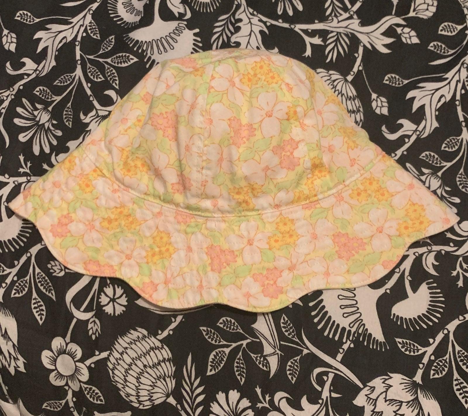 Gymboree Baby Girl Floral Sun Hat 18M-3T