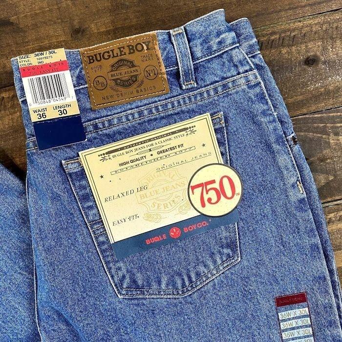 Bugle Boy Relaxed Leg Easy Fit 750 Men's Jeans 36W / 30L Denim Jeans 36x30 NWT