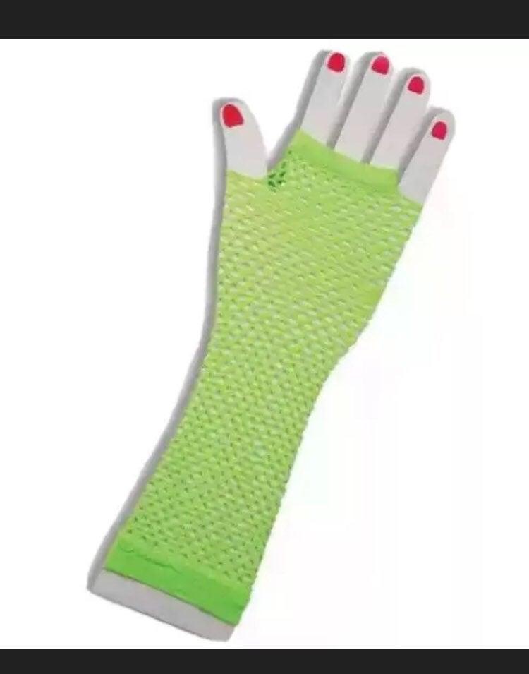 Rockin' 80's Neon Fishnet Costume Gloves