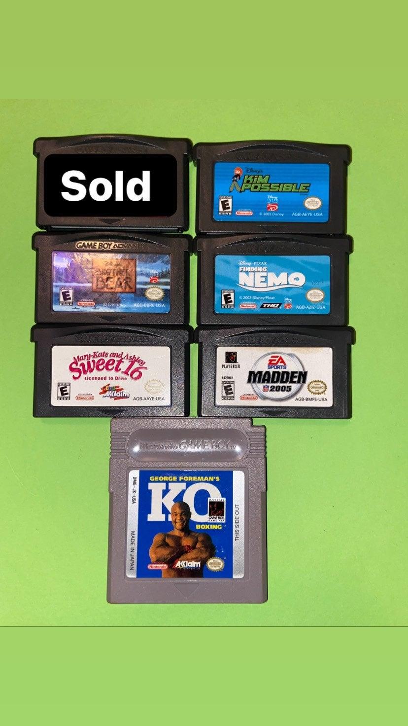 Gameboy Games ($4 each)