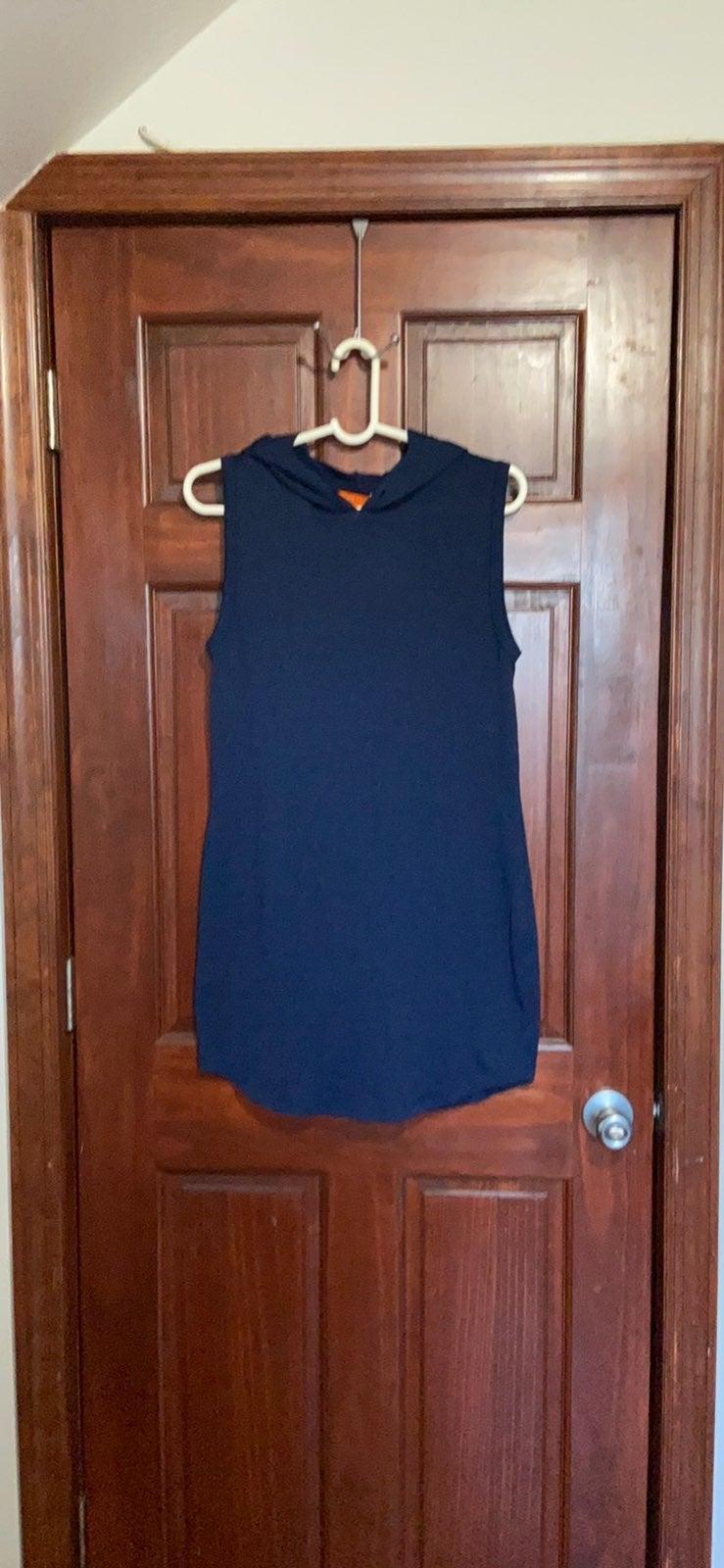 Joe Fresh Navy Sleeveless Hooded Dress