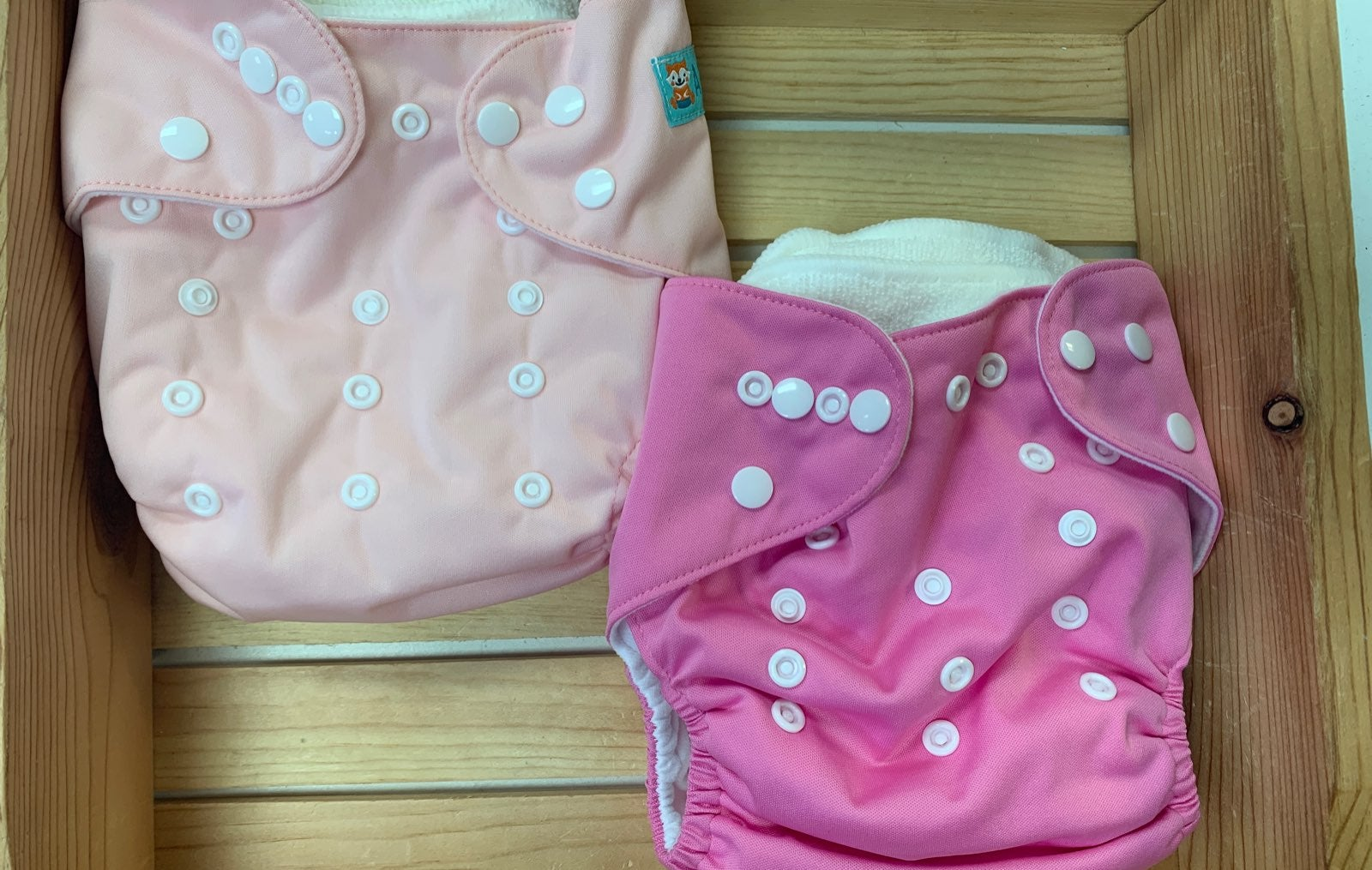 Two Adjustable One Size Cloth Diapers