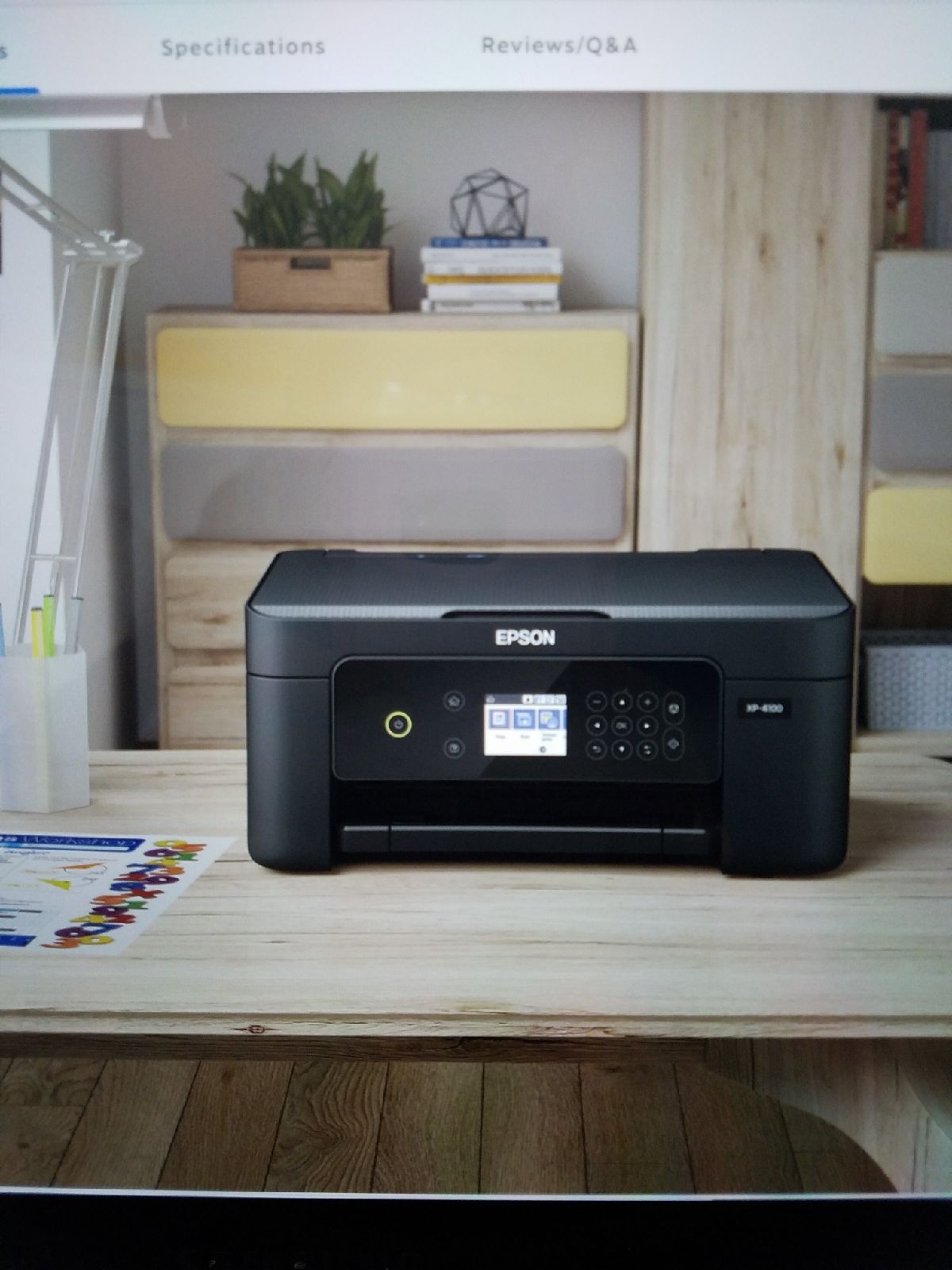 Epson wireless XP4100 all in one printer
