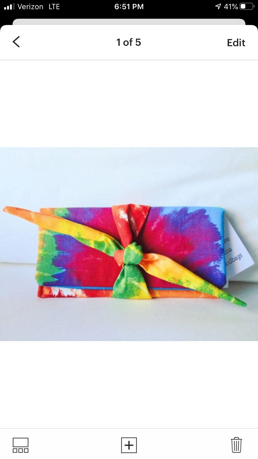 Tie Dye Rainbow Clutch Purse Hippie Boho
