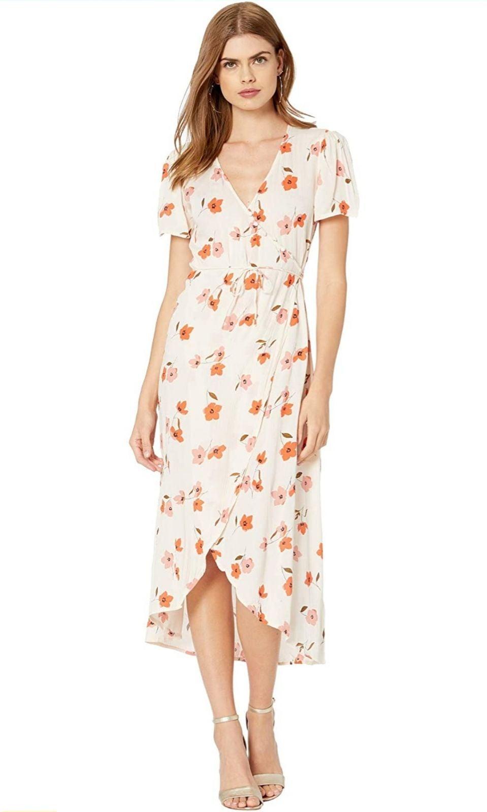 Billabong floral wrap dress MSRP $70