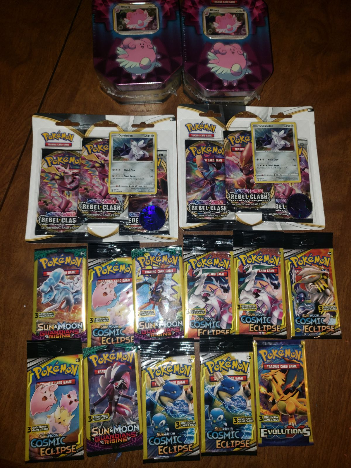 Pokémon tins and cards
