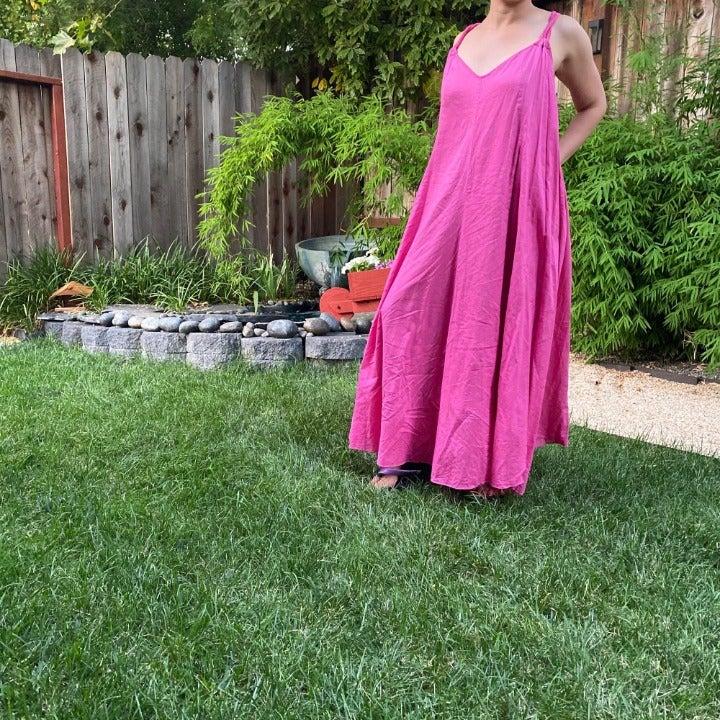 Garnet Hill Pink Tent Dress sz small