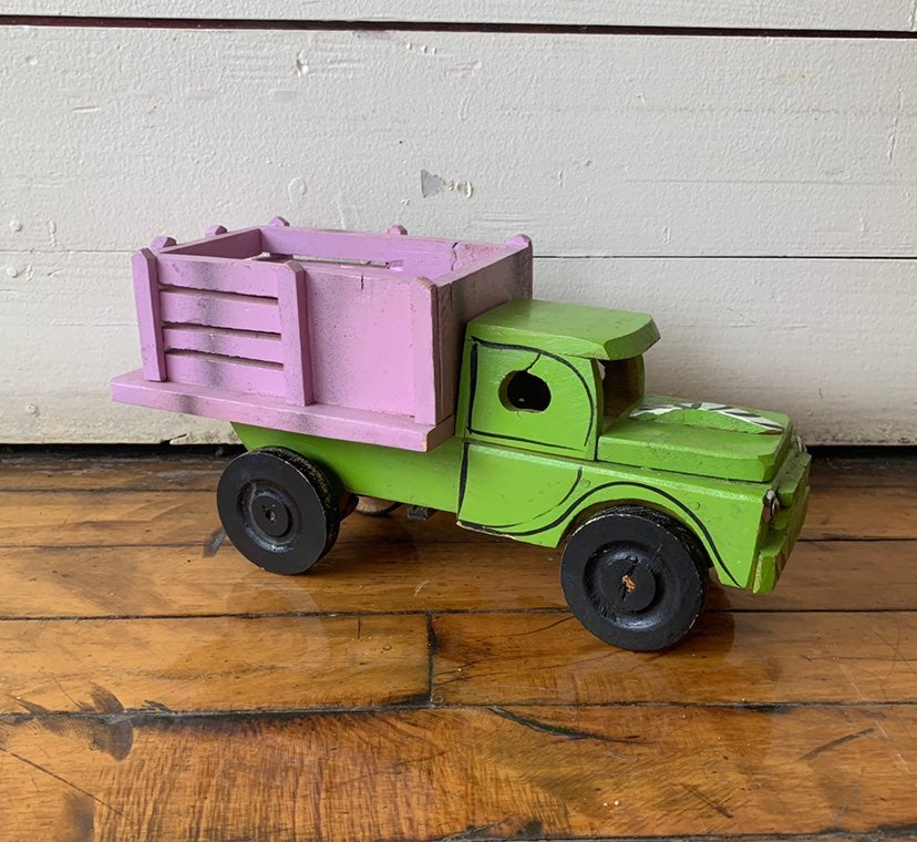 African Market Truck | 1950s Wooden Toy