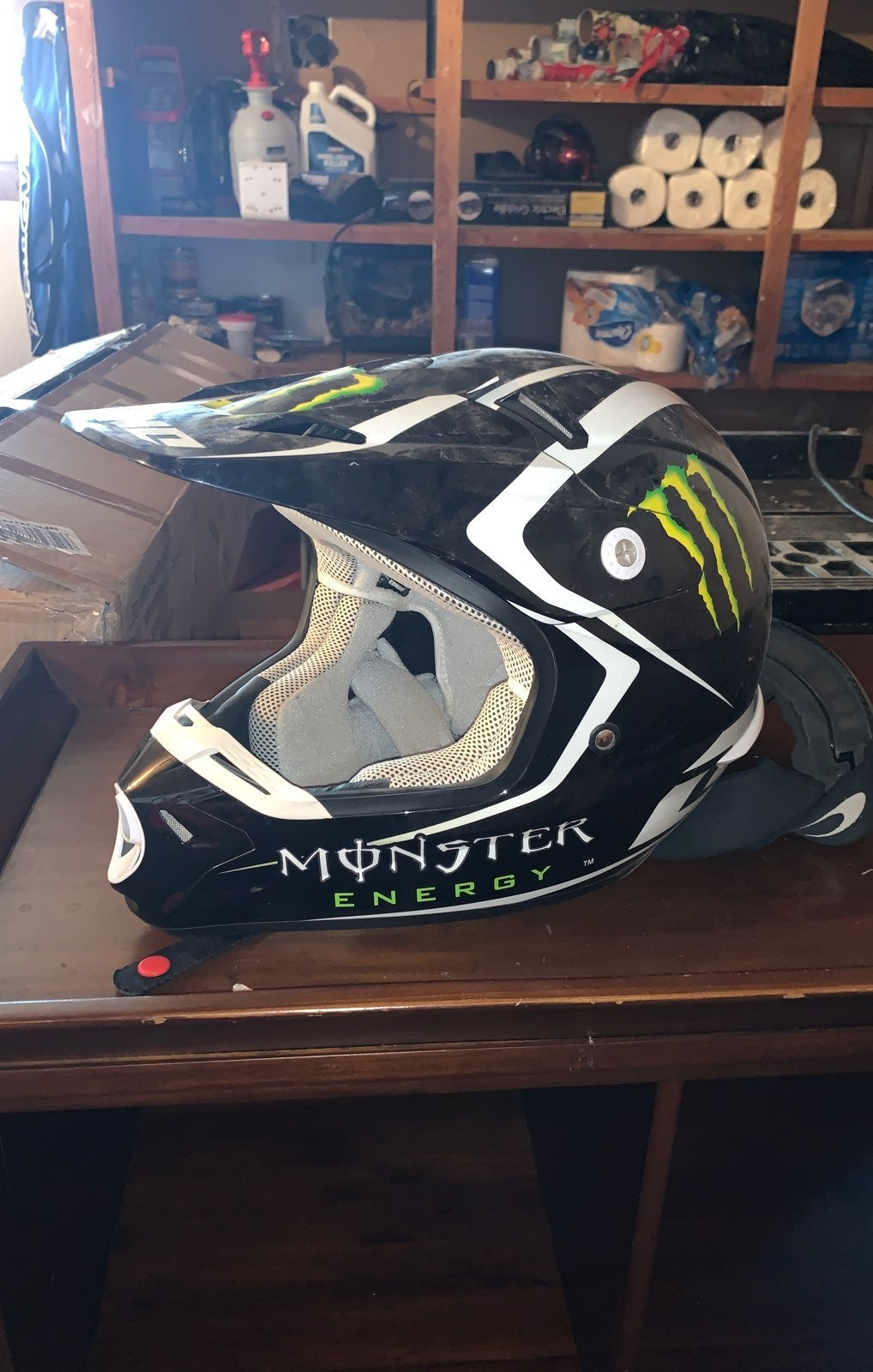 Monster energy motocross helmet