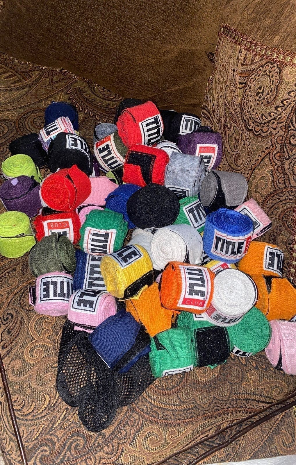 Lot of 66 Title Boxing hand wraps