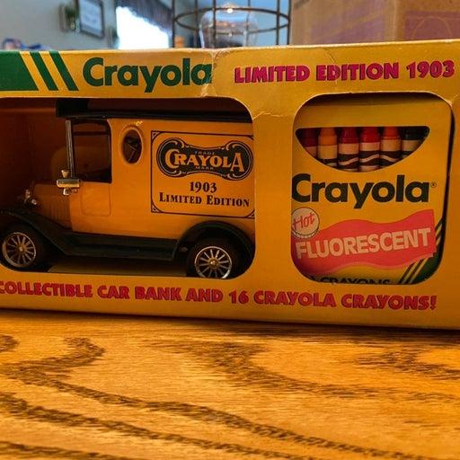Crayola 1903 Antique Car Bank Limited Ed