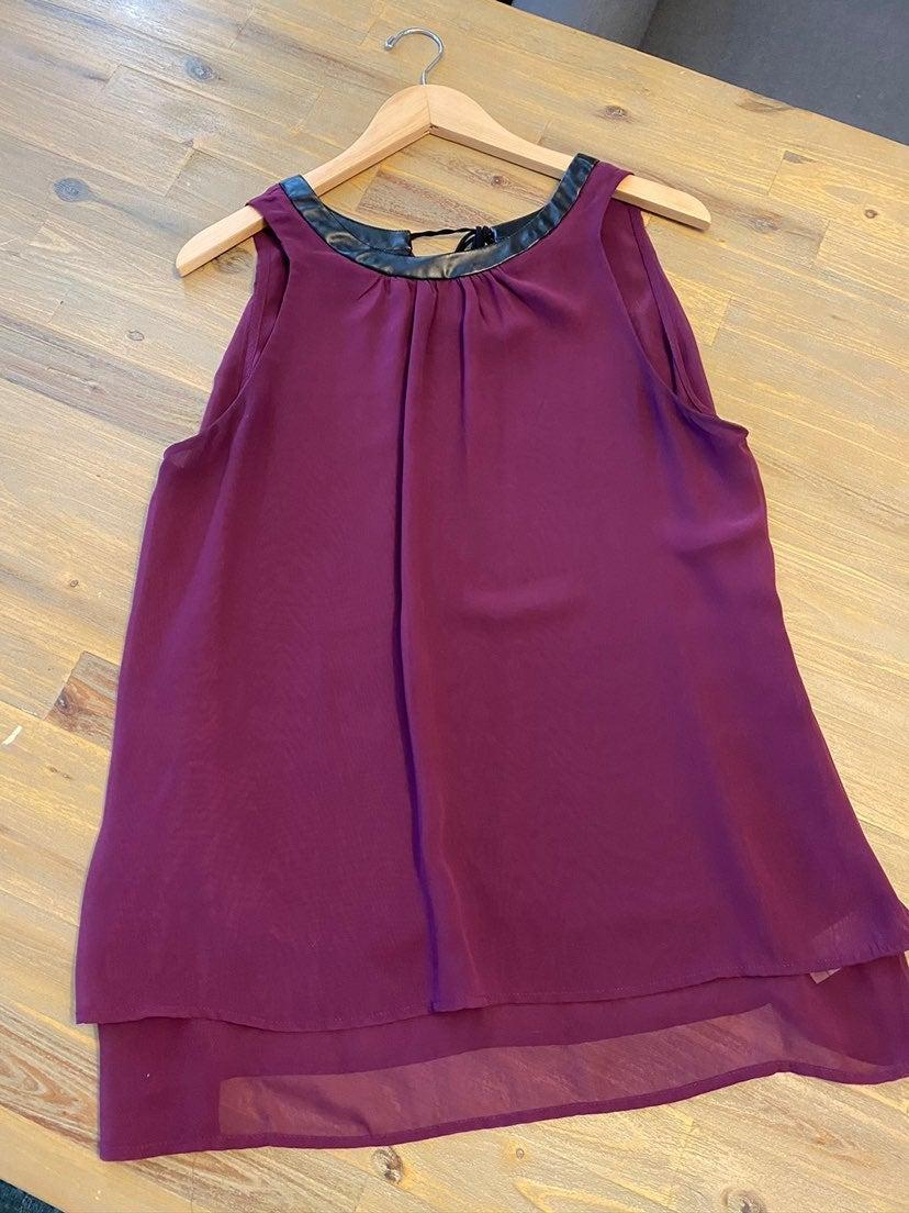 Womens blouse plum