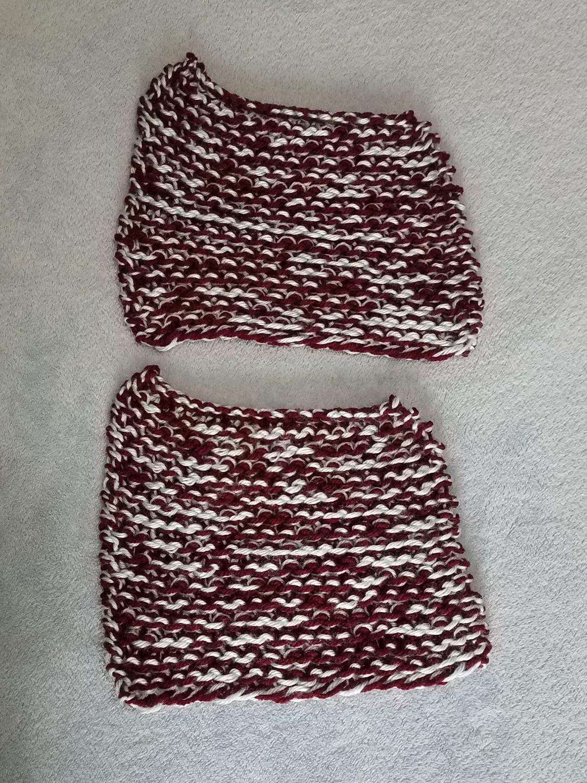 Handmade Dish Cloth Bundle Red Blue