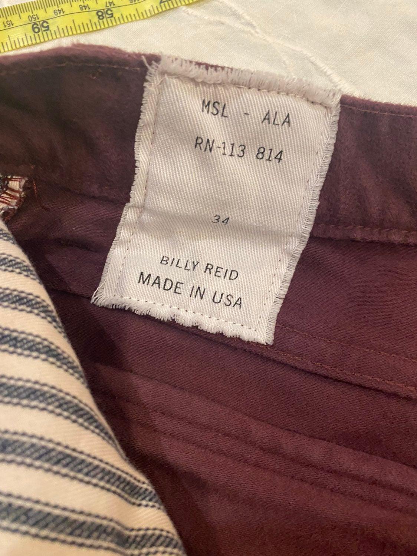 Billy Reid moleskin jeans 34