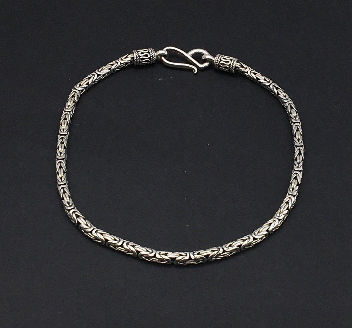 Sterling Byzantine Anklet Bracelet