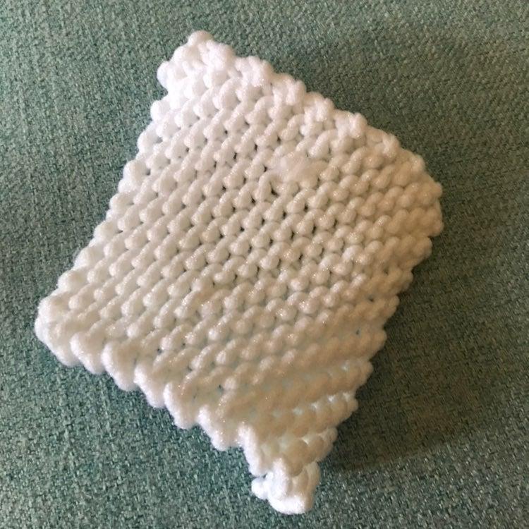 Handmade dish scrubber