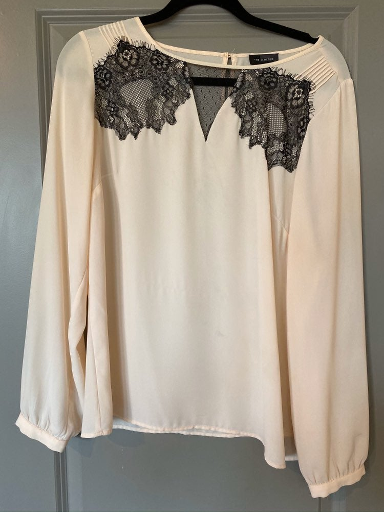 The Limited light sheer blouse with blac
