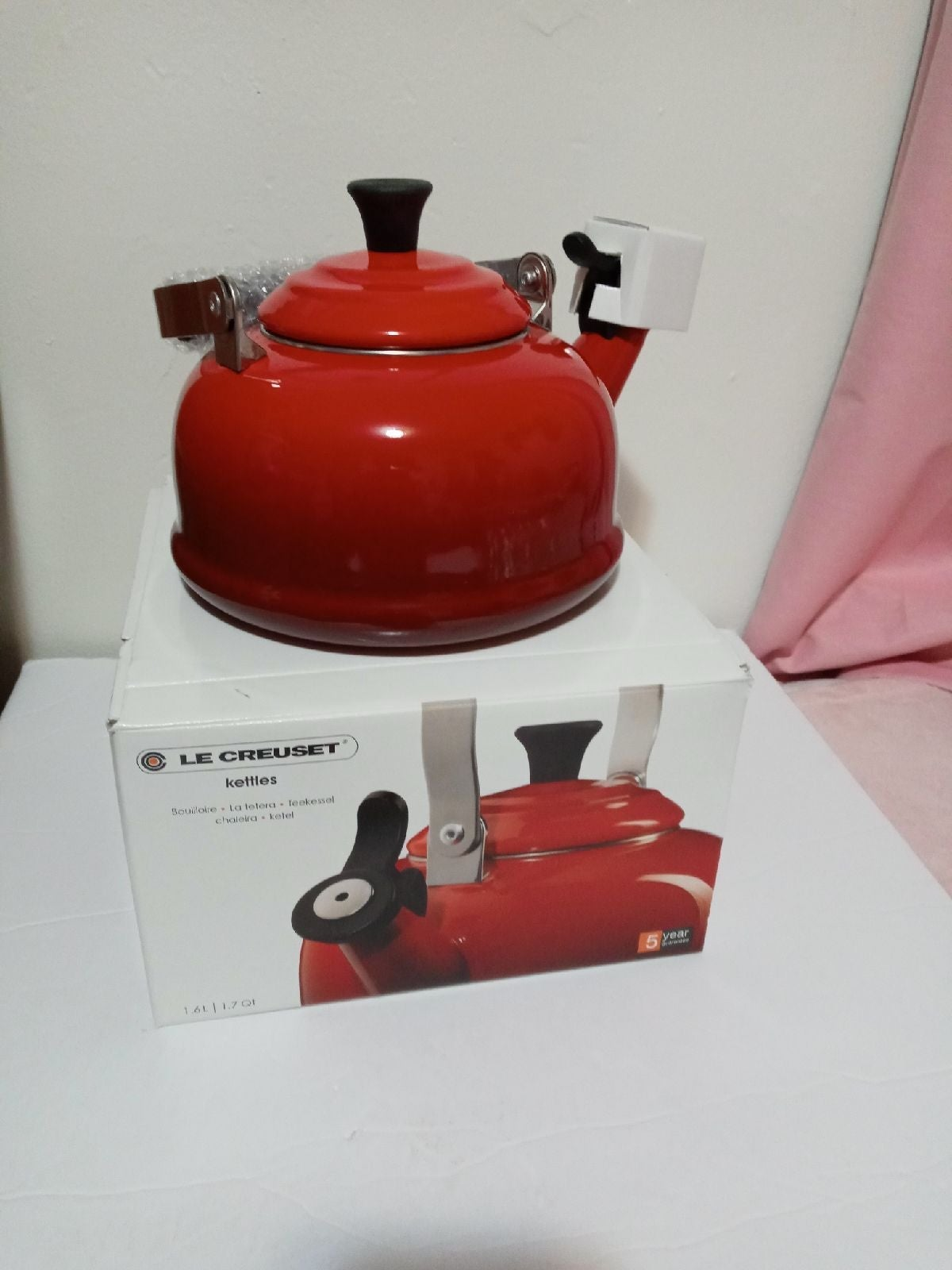 Red LeCreuset Enamel Teapot