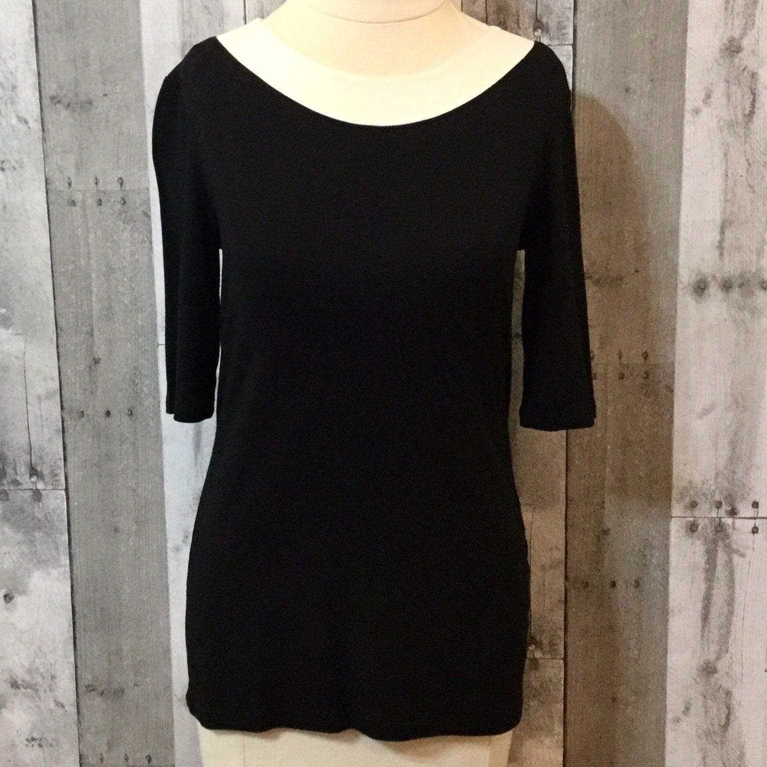 PENDLETON Soft Knit Top Black Ivory NWT