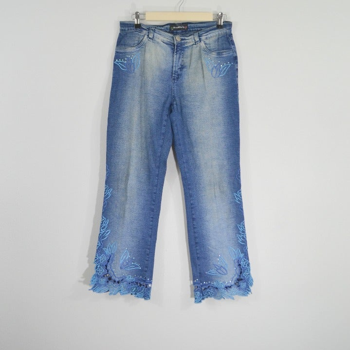 BrazilRoxx Embroidered Jeans 4/40