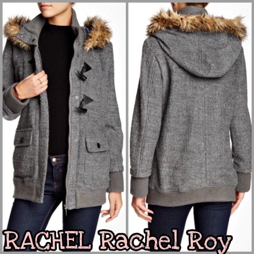 Rachel Roy | Faux Fur Wool Blend Jacket