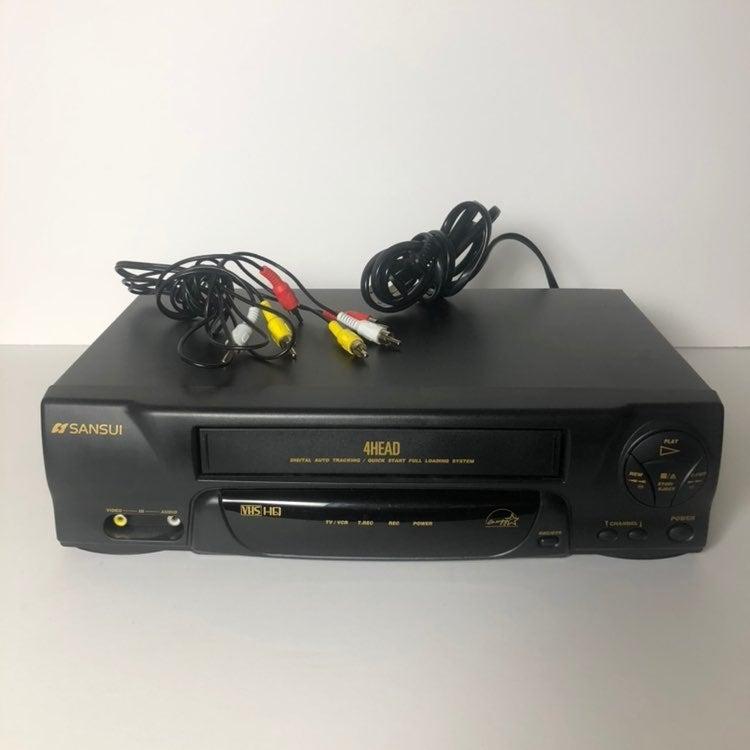 Sansui 4-Head VHS HQ VCR Model: VCR4510C