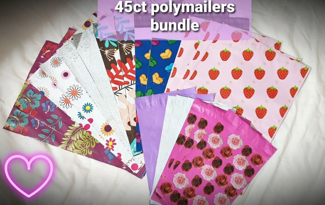 45 pieces set Poly Mailers 10x13, 6x9