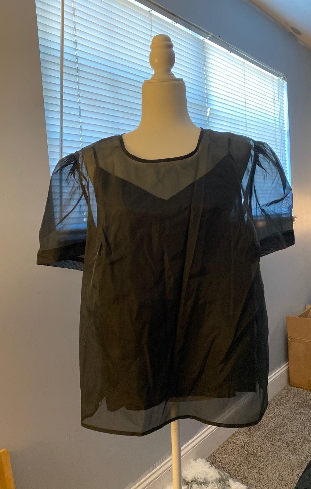 Puffy sleeve blouse