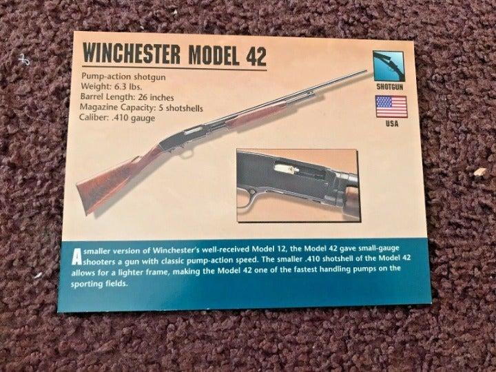 WINCHESTER MODEL 42 SHOTGUN Atlas Card