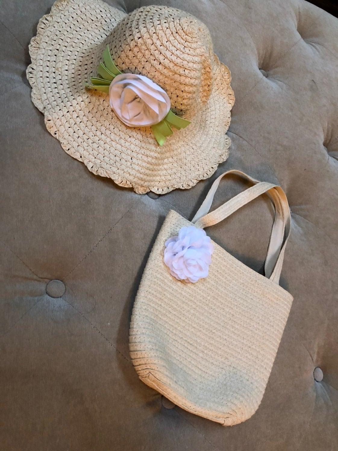 Gymboree baby hat and purse