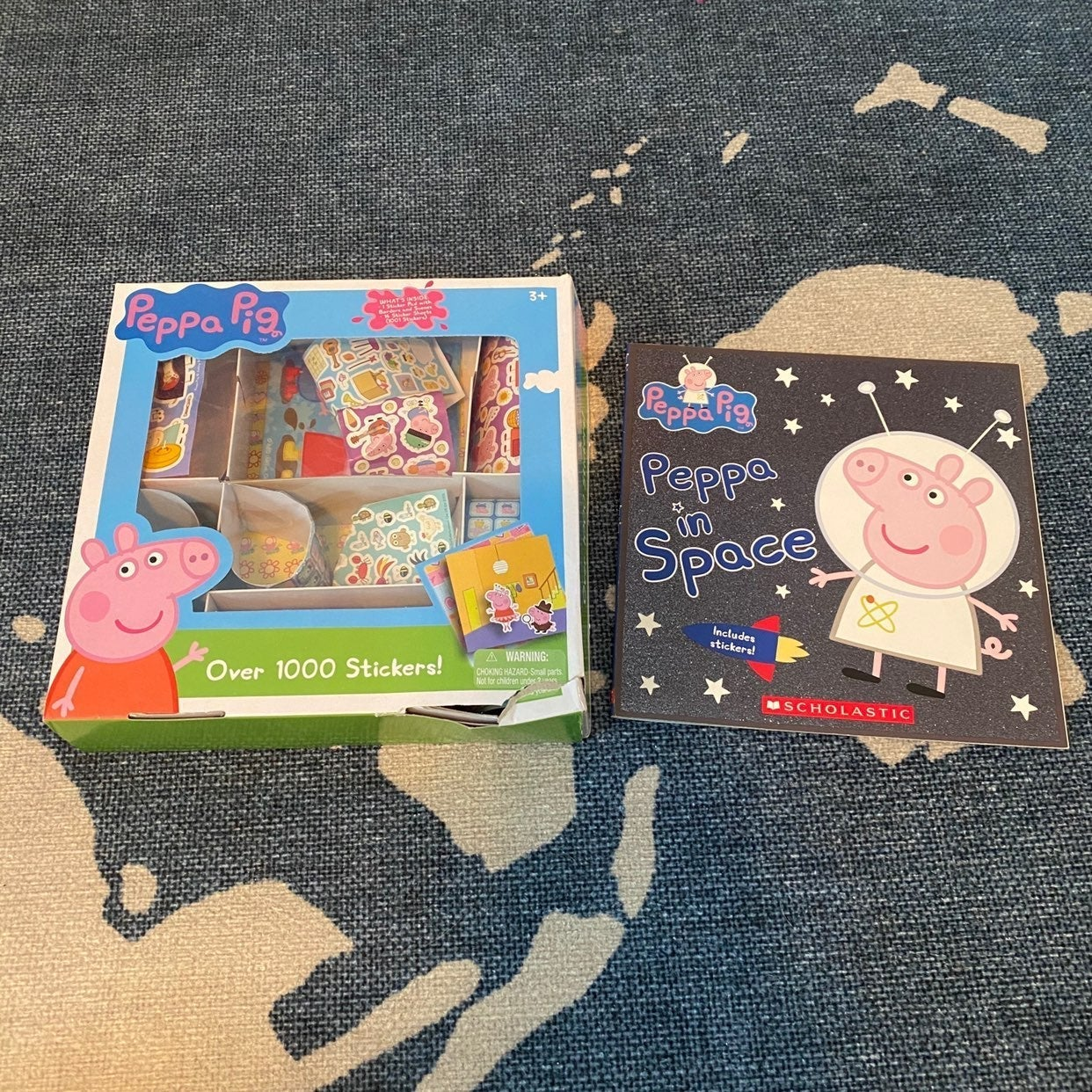 Peppa Pig children's book & stickers lot