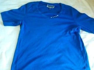 Karen Scott Blue 5 button Shirt (Ox)