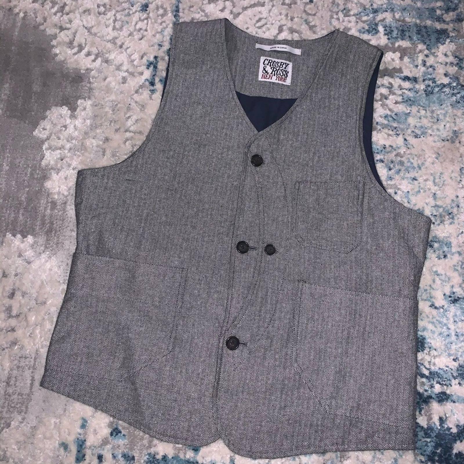 Crosby&Ross Herringbone Professor Vest